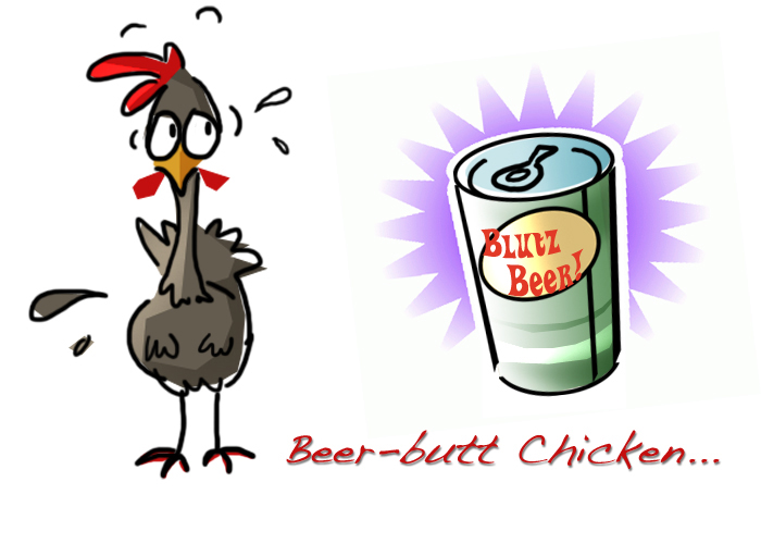 BBQ Chicken Cartoon http://www.momeomagazine.com/great-from-the-grill-recipes-for-backyard-barbecuing-bbq-chicken-beer-can-style/