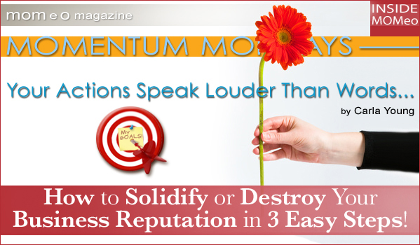Your Actions Speak Louder Than Words: Momentum Monday: Actions Speak Louder Than Words