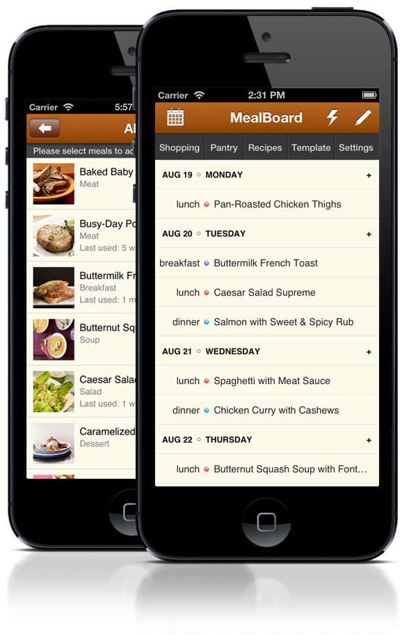MealBoard Meal Planning App