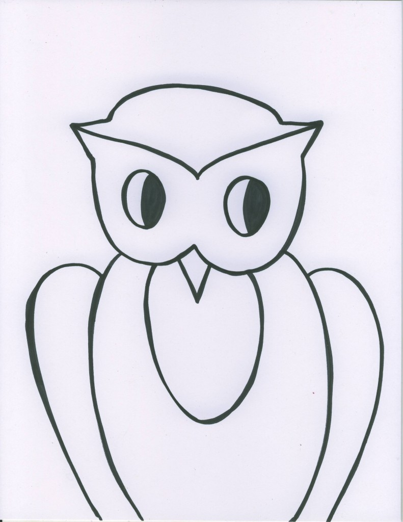 owl black line younger 791x1024