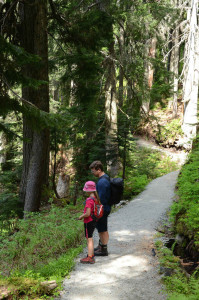 Daughter and Daddy on the Howe Sound Crest Trail