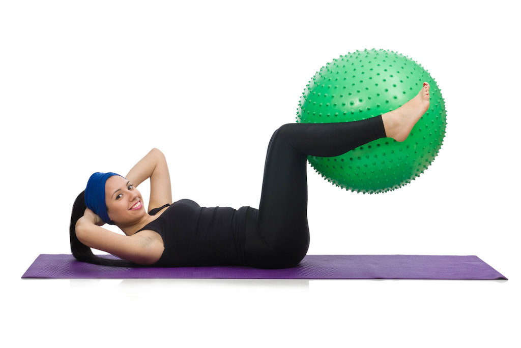 Head to toe core using a stability ball work your