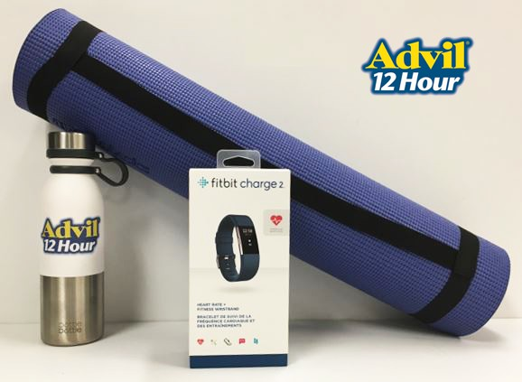 Advil 12 Hour Giveaway Prizes