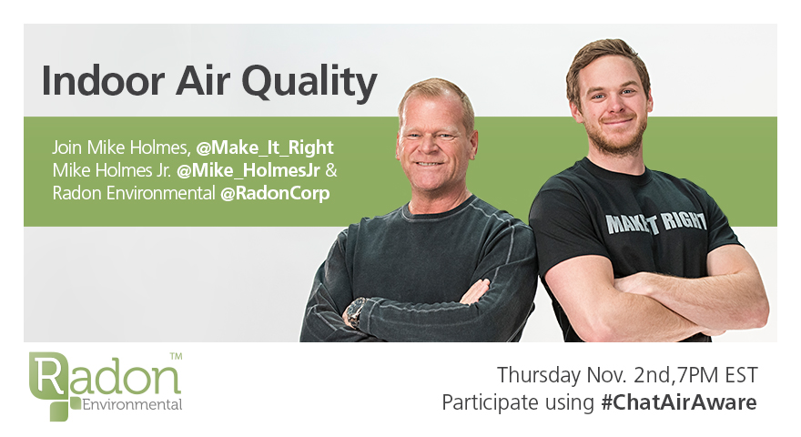 Talk Indoor Air Quality with @Make_It_Right & @Mike_Holmesjr for #ChatAirAware November 2 at 7pm EST #ad