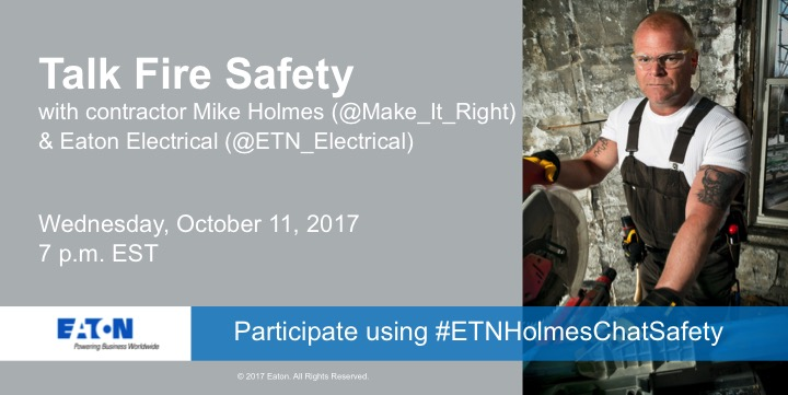 Join Celebrity Contractor @Make_It_Right for the #ETNHolmesChatSafety October 11 at 7pm EST #ad